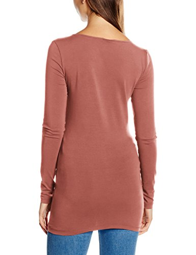 Vero Moda VMMAXI My LS Soft Long U-Neck Noos, Maglia a Maniche Lunghe Donna Rosa (Withered Rose)