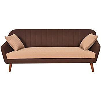 Furny Ozzie Three Seater Sofa (Camel and Brown )
