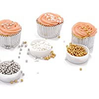 Gold 7mm 85g : 85g Gold &Silvery &White Sprinkles Edible Beads Cupcake Desserts Cake Decoration Sprinkles Baking &Pastry Tools