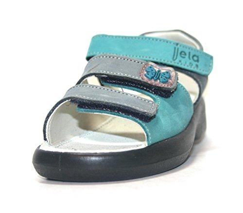 Jela , Bride cheville fille Vert - jeans/caribic