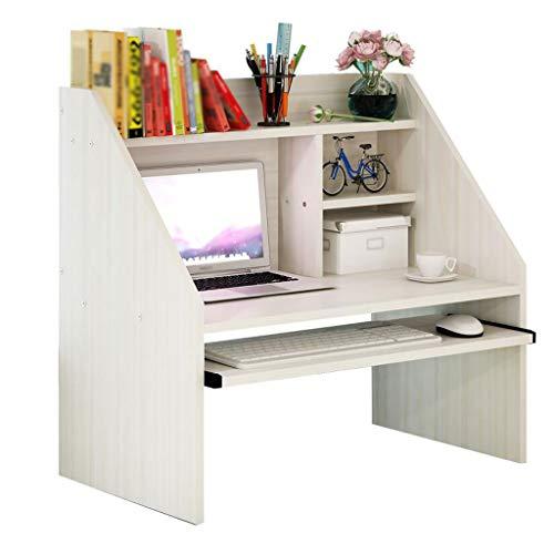 Weiß Ahorn Farbe Bett Computer Schreibtisch mit Lagerung Tastatur Kleine faul Notebook Schlafzimmer Student 78,4 cm * 40 cm * 76 cm -