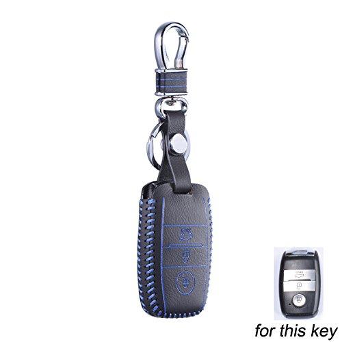 Maxiou Key Fob Protect Funda para Kia Ceed Sorento cerato K3 K3S K4 K5 KX3 Sportage KX5 Funda Skin Bag para llaves inteligentes y plegables (azul, inteligente)