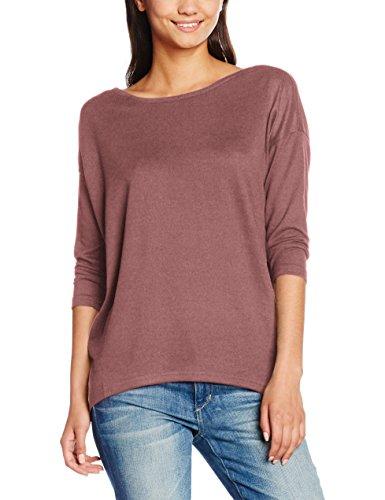 ONLY Damen Langarmshirt Onlelcos 4/5 Solid Top Jrs Noos, Rosa (Mesa Rose Detail:Melange), 40 (Herstellergröße: L)