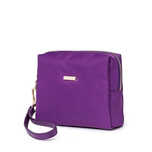 Portafoglio donna/Borsa mano corta/ portafoglio con zip/Borse in tessuto nylon Oxford-A
