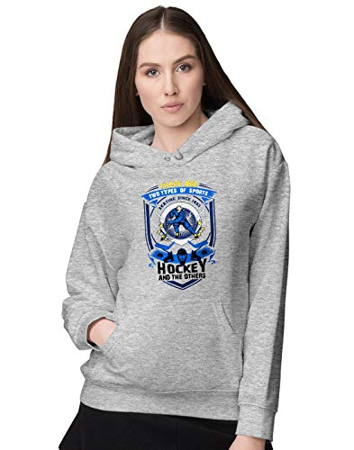 BLAK TEE Damen Two Types of Sports Ice Hockey and Others Slogan Kapuzenpullover (Jersey Evolution Hockey)
