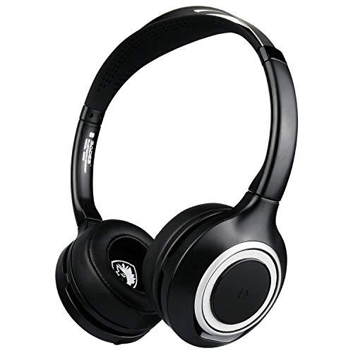 Glowjoy SADES D805 Kabellose Bluetooth Faltbare Kopfhörer,Leicht tragbare Headset mit Mikrofo,Sportkopfhörer Over Ear Stereo 3,5 mm Audioanschluss Noise Cancelling Ohrhörer ANC mit Mikrofon (Schwarz) -