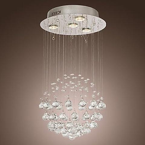 Arts luce COOKE - Lampadario in cristallo con 4 lampadine ( Voltage : 110-120V (120 Volt 4 Catena Luce)