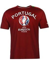 UEFA EURO 2016 Portugal Graphic camiseta de manga corta para hombre granate de fútbol camiseta de