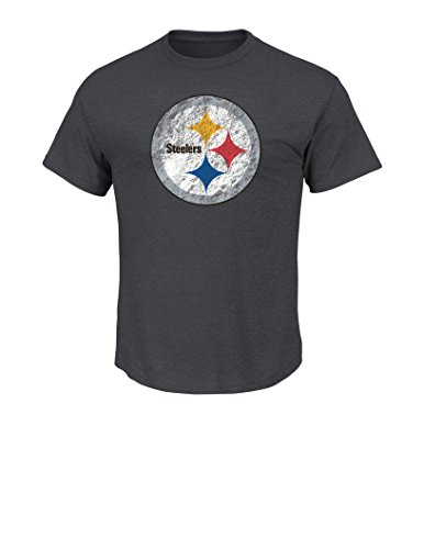 Majestic HEATHER CHARCOAL Shirt - Pittsburgh Steelers - XL