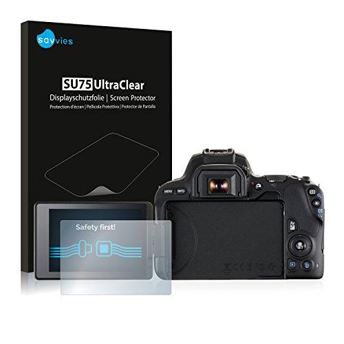 Savvies Schutzfolie kompatibel mit Canon EOS 200D (6 Stück) - ultraklare Displayschutz-Folie