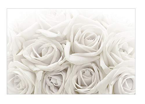 *Apalis Rosentapete – Vliestapete – Weiße Rosen – Blumen Fototapete Breit | Vlies Tapete Wandtapete Wandbild Foto 3D Fototapete für Schlafzimmer Wohnzimmer Küche | Größe HxB:225x336cm*