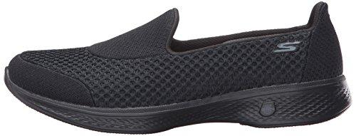 Skechers Women's Go Walk 4-Kindle Low-Top Sneakers, Black, US, Black (Bbk), 5 C/D UK