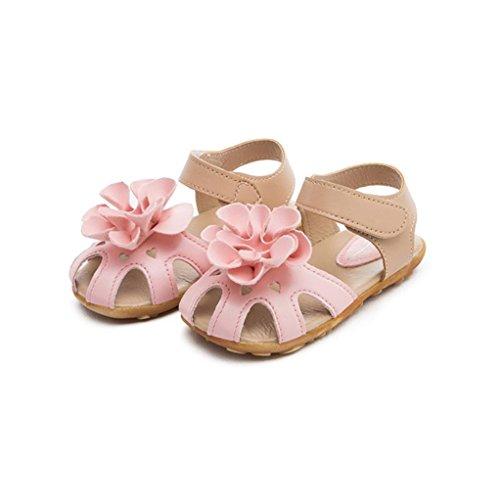 Bébé Fille Chaussures ,Reaso Ete Fleur Bebe Sandales (21, Rose)