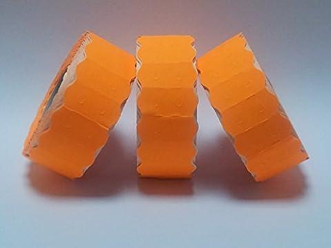 SATO S26& # 26mm x 12mm Prix Étiquettes Pistolet–Orange fluo–Permanent
