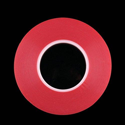 Preisvergleich Produktbild Hemore 50M Multi-Rolle Hitzebeständige Beidseitige Transparent Durchsichtiges Klebeband Qualität,  langlebig Baumarkt Eisenwaren Vorräte