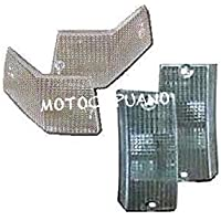 Mickey Ersatzteile vm1229/Vespa Indikator Objektive//Blinker Glas Set gelb Vespa PX 80 200/ mit e-nummer
