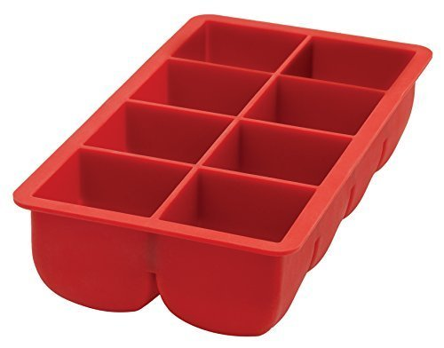 HIC Flexible Big Block Cocktail Ice Cube Tray, Silicone, 2-Inch Cubes by HIC Harold Import (Harold Import Silicone)