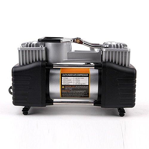 Preisvergleich Produktbild KRISMILEN Portable Vehicle Auto 12V Luftkompressor Pumpe Autoreifen Reifen Inflator für Motorrad Fahrrad Boot Betten
