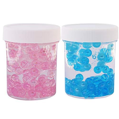 hleim Kitt mit Fishbowl-Perlen, Flache Perlen Slime Stressabbau Spielzeug für Kinder Erwachsene, 2-Pack ()