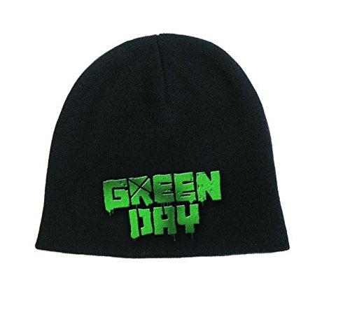 Green Day Mütze Beanie Cap band Logo american idiot Nue offiziell Schwarz Green Day-logo-beanie