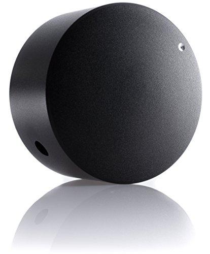 Hifi Lab Poti-Knopf Alu 40x22 Audio Drehknopf Aluminium massiv schwarz 6,35mm Potentiometer Knopf Alu-Knopf