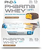 PhD Nutrition Pharma Whey HT+ Protein Bars, Chocolate Peanut, Pack of 12 x 75g