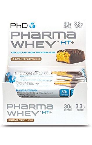 Phd Nutrition Pharma Whey HT+ 12x75g Bars Chocolate Peanut