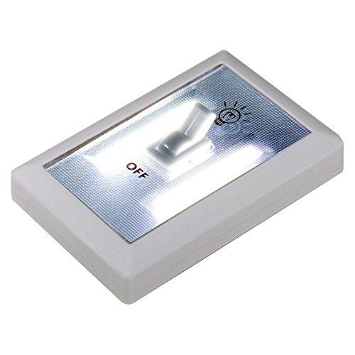 Eaxus® selbstleuchtender LED Lichtschalter - selbstklebendes Wandlicht. Unterbaulicht, Nachtlicht
