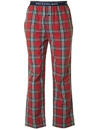Polo Ralph Lauren Homme Logo Baudrier Plaid Pyjama Bottoms, Rouge