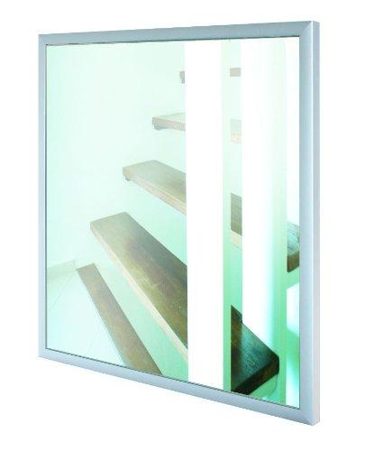 Infrarotheizung Spiegel mit 21 mm Aluminium - Rahmen, Spiegelheizung / 300 Watt - 60x60x2,5 cm