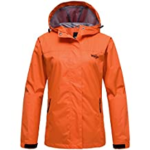 Wantdo Chaqueta Cortavientos Impermeable con Capucha Impermeable para Mujer