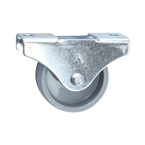 Dörner + Helmer Möbel-Bockrolle (45 x 17 mm, Kunststoff Rad) grau, 791140