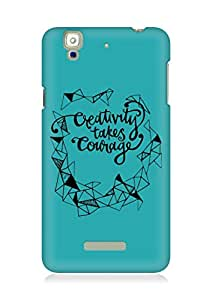 AMEZ creativity takes courage Back Cover For YU Yureka