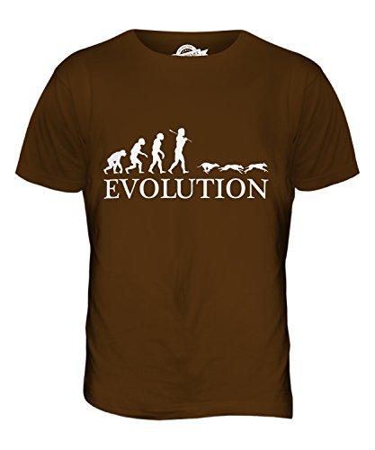 CandyMix Windhundrennen Evolution Des Menschen Herren T Shirt Braun
