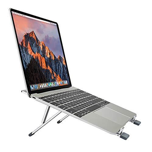 TKOOFN Supporto per Laptop Regolabile Vassoi di Appoggio Alluminio Pieghevole Ventilato leggero Portatile Multi Angolo & Altezza per Notebook