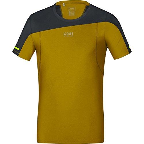 Gore Running Wear SSSULT209903 Maglia Corsa Uomo, Maniche corte, Ultraleggera e traspirante, GORE Selected Fabrics, FUSION Shirt, Taglia S, Giallo/Nero