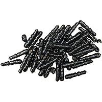 UEETEK 100PCS 3.5mm Jack Anti Dust Plug Auriculares Cap Stopper Cartoon Cell Phone Charm para iPhone X / 8/7 / 6s / 6 Plus / iPad Air 2 / mini 3 / Samsung Galaxy S8 S7 S6 Edge / LG / Nexus / HTC / OnePlus y más (Negro)