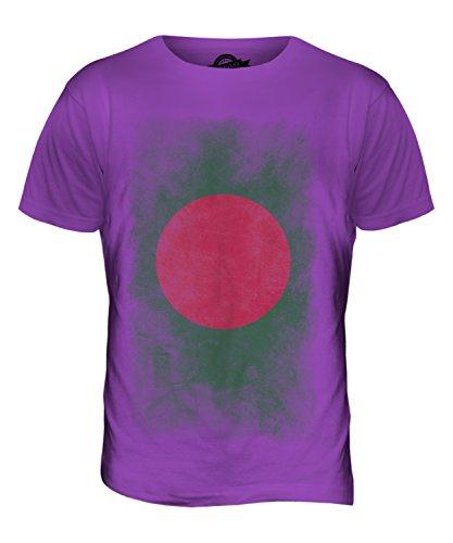 CandyMix Bangladesch Verblichen Flagge Herren T Shirt Violett