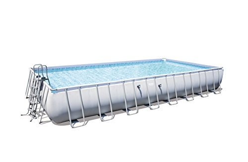 Bestway Power Steel Rectangular Frame Pool, hellgrau, o… | 04060265279647