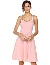 cadf2ae710f6 Suchergebnis auf Amazon.de für: Knielanges Spaghettiträger-Kleid ...