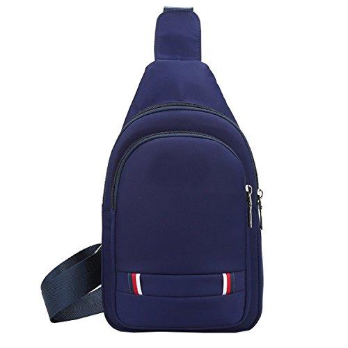 LAIDAYE Freizeit-Schulter-Kurier-Taschen Business-Paket Umhängetasche Brustbeutel Blue
