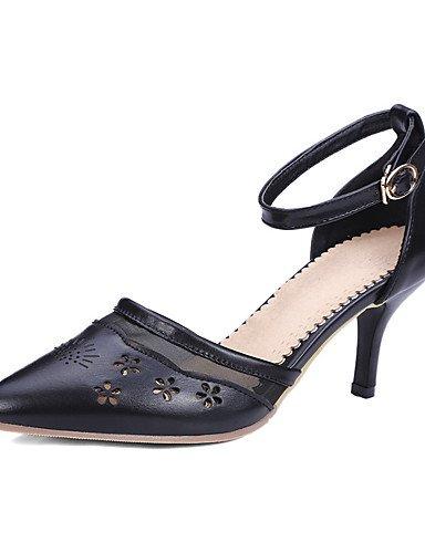 WSS 2016 Chaussures Femme-Habillé / Décontracté / Soirée & Evénement-Noir / Rose / Blanc / Beige-Talon Aiguille-Talons / Bout Pointu / Bout Ouvert- white-us4-4.5 / eu34 / uk2-2.5 / cn33