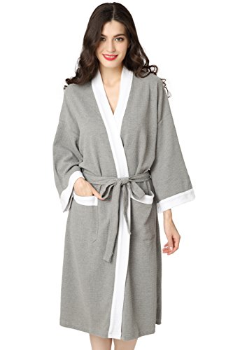 aibrou-unisex-waffle-dressing-gown-100-cotton-lightweight-bath-robe-for-all-seasons-spa-hotel-pool-s