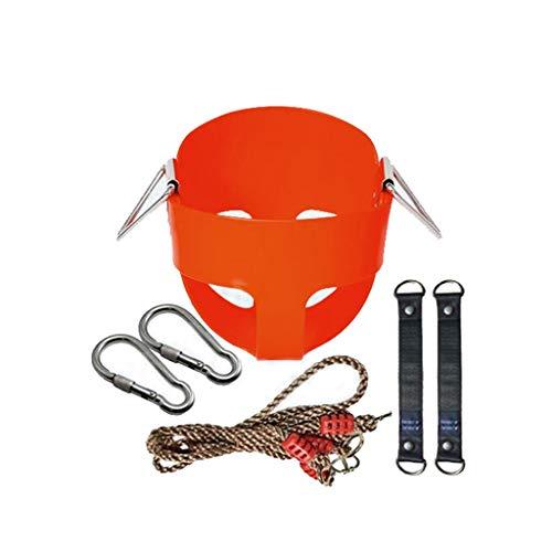 1 Satz Indoor Outdoor Safe Gesunde Schaukel für Kinder Spielzeug für Kinder Baby Low Back PE Kunststoffkorb Spaß Spiele Freizeit (Color : Red) (Hängematte Low)