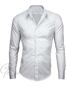 Giosal Camicia Uomo Casual Cotone Colletto Morbido Tinta Unita Slim