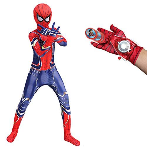 FASHON Big Party Costumes Kinder Super Hero Spinne Kostüm Halloween Movie Show Kostüm Requisiten Verkleidung Kostüm Jungen,A-Adult-L