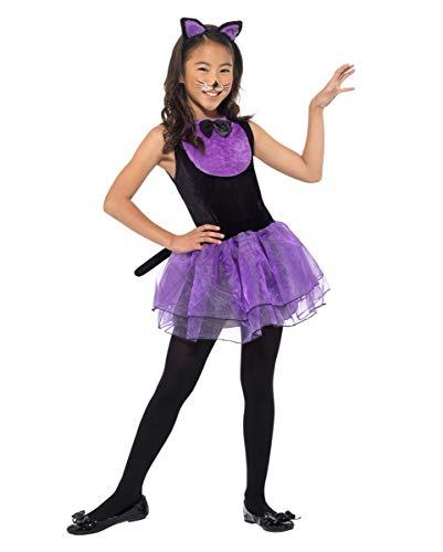 Horror-Shop Freches Katzen Kostüm für Mädchen an Halloween & Fasching - Mädchen Freche Katze Kostüm
