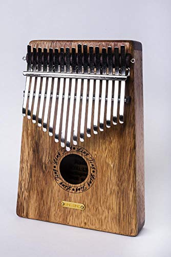 Tan Bambus (irugh Daumenklavier Gold Seide rot Tan Kalimba Bambus Schlüssel Kalimba)