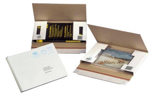 NIPS 146180161 CD/DVD-CASE Versandverpackung ohne Fenster, 223 x 155 x 20 mm, 50 Stck. gebündelt, weiß