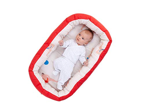 Big Apples Nido para bebes nest reductor protector cuna para cama desenfundable Edad 0 a 6 meses Cuna viaje port/átil Fabricado en Espa/ña Varios Modelos Tama/ño /único